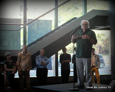 John Clark, AM, officially opened NIDA's new exhibition, The Legacy: A Celebration of the Old Tote Theatre Company